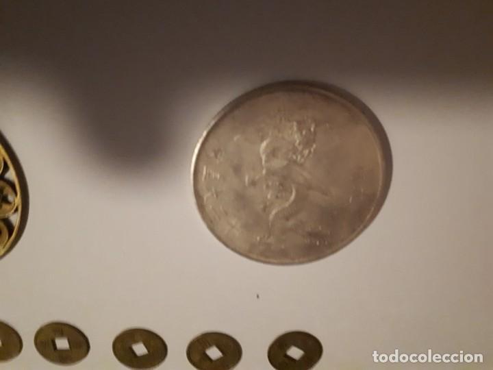 Reproducciones billetes y monedas: 67-LOTE DE MONEDAS Y LINGOTE DE CINABRIO - Foto 12 - 221836888