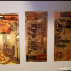 Reproducciones billetes y monedas: 68-LOTE DE COLECCION DE BILLETES ORO 24 K. Lote 221837075