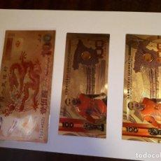 Reproducciones billetes y monedas: 69-LOTE DE COLECCION DE BILLETES ORO 24 K. Lote 221837360