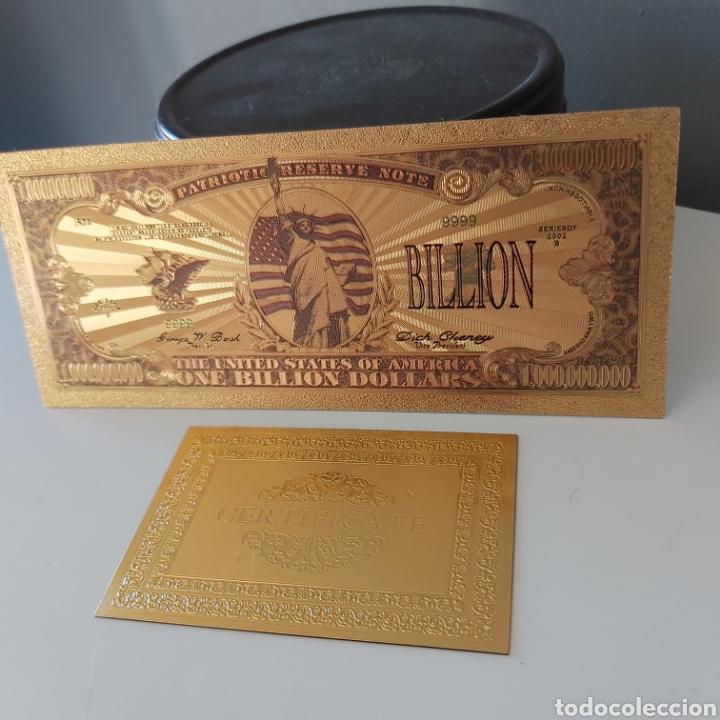 PRECIOSO BILLETE DE 1 BILLÓN DE DÓLARES AMERICANOS, CON CERTIFICADO DE AUTENTICIDAD (Numismática - Reproducciones)