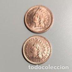 Reproducciones billetes y monedas: PEQUEÑA MONEDA USA DE 1877 DE DOS CARAS IGUALES CON LA LIBERTAD DE INDIO. Lote 222864590