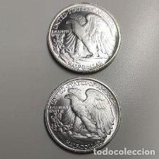 Reproducciones billetes y monedas: MEDIO DOLAR USA CON DOS CARAS IGUALES CON EL AGUILA. Lote 222866206