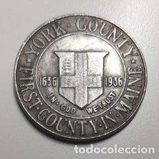 Reproducciones billetes y monedas: MEDIO DOLAR DE PLATA USA 1936 CONMEMORATIVA CONDADO DE YORK. Lote 222960171