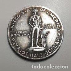 Reproducciones billetes y monedas: MEDIO DOLAR DE PLATA USA 1925 CONMEMORATIVA LEXINGTON. Lote 237772230