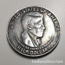 Reproducciones billetes y monedas: MEDIO DOLAR DE PLATA USA 1936 CONMEMORATIVA CINCINNATI. Lote 222962265