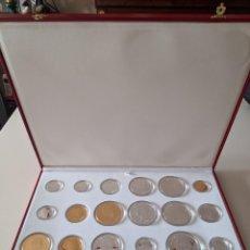 Reproducciones billetes y monedas: HISTORIA DE LA PESETA Y RELOJ SELLO ÁUREO FELIPE II. FÁBRICA MONEDA Y TIMBRE. Lote 223979830
