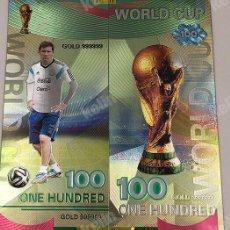 Reproducciones billetes y monedas: BILLETE DE FANTASIA DORADO Y COLOR MESSI SELECCION ARGENTINA. Lote 242100690
