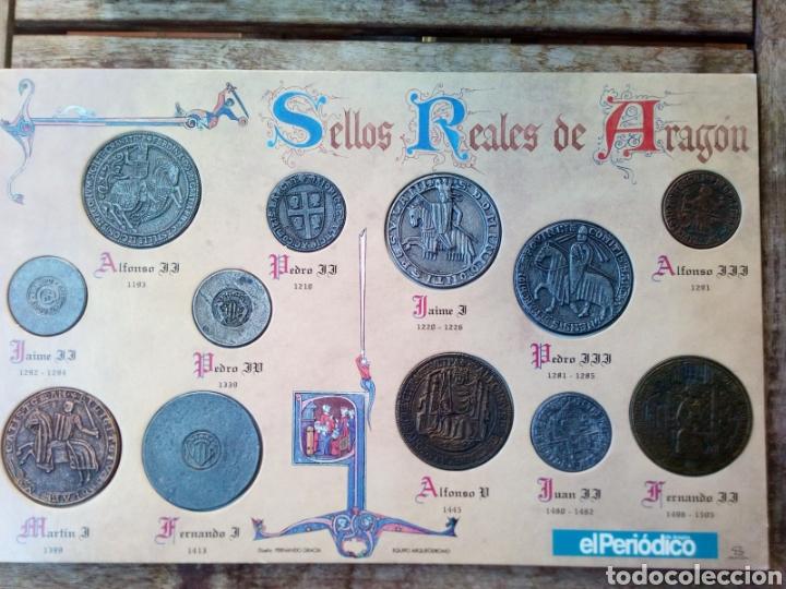 Reproducciones billetes y monedas: Reproducción de Monedas Reyes de Aragon - Foto 2 - 226112525