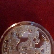 Reproduções notas e moedas: 1 ONZA PLATA KANGURO 2019 ISLAS SALOMON. Lote 226631870