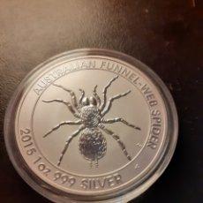 Reproduções notas e moedas: 1ONZA AUSTRALIAN FUNNEL-WEB SPIDER 2015. Lote 226632755