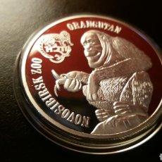 Reproduções notas e moedas: 1 ONZA PLATA AUSTRALIA ORANGUTÁN 2014. Lote 226816140