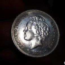 Reproducciones billetes y monedas: ALFONSO XIII 1893 PG V (BONITA REPRODUCCIÓN). Lote 227326210