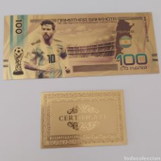 Reproducciones billetes y monedas: PRECIOSO BILLETE HOMENAJE A MESSI!. Lote 268819724