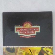 Reproducciones billetes y monedas: LA GRAN HISTORIO DE LA PESETA. Lote 229006520