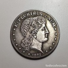 Reproducciones billetes y monedas: MEDIO DOLAR DE PLATA USA 1882. Lote 230960320