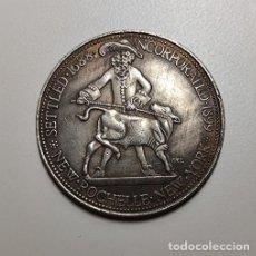 Reproducciones billetes y monedas: MEDIO DOLAR DE PLATA USA 1938 NEW ROCHELLE-NEW YORK. Lote 230962345