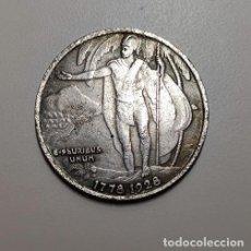 Reproducciones billetes y monedas: MEDIO DOLAR DE PLATA USA 1928 HAWAI. Lote 231228345