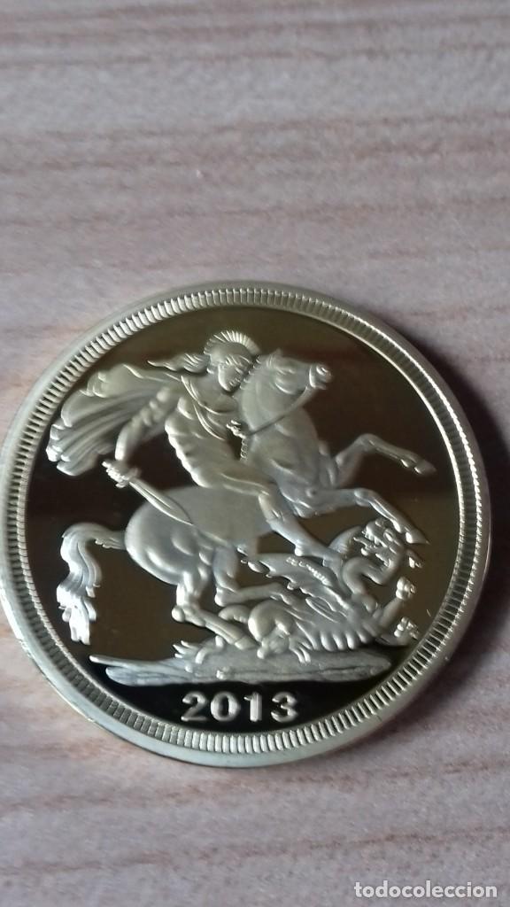 Reproducciones billetes y monedas: Gran medallon de Lady Di chapado en oro - Foto 8 - 231319710