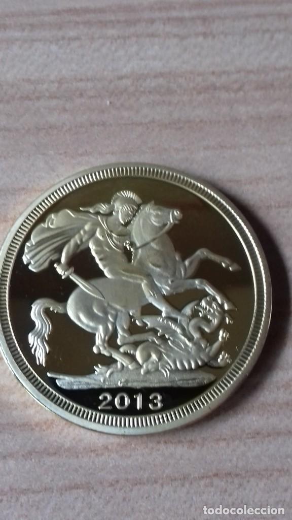 Reproducciones billetes y monedas: Gran medallon de Lady Di chapado en oro - Foto 10 - 231319710