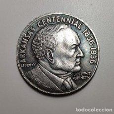 Reproducciones billetes y monedas: MEDIO DOLAR DE PLATA USA 1936 CENTENARIO ARKANSAS. Lote 231372470