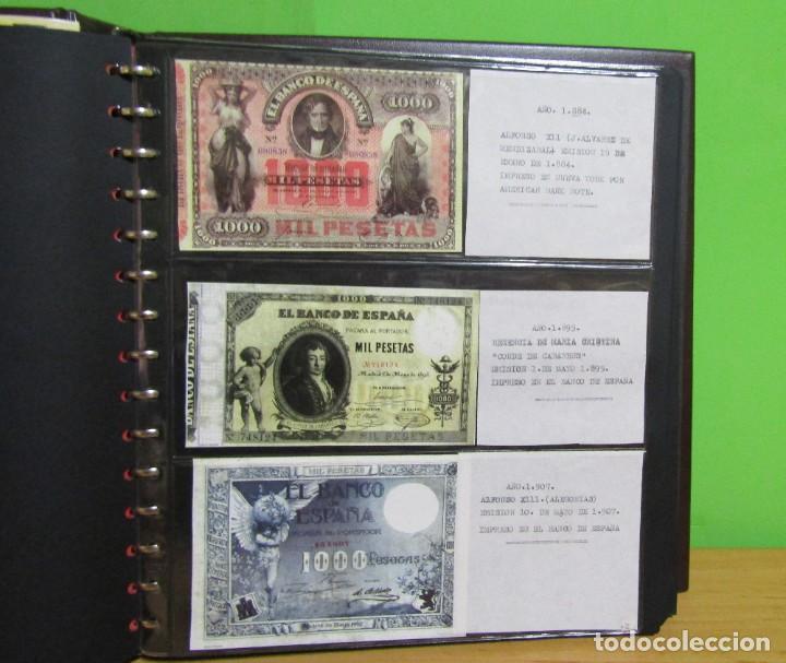 Reproducciones billetes y monedas: ALBUM CON 120 BILLETES EDICION FACSIMIL BILLETES DE 1871 A 1971 EXCELENTE PRESENTACION VER IMAGENES - Foto 8 - 231751065
