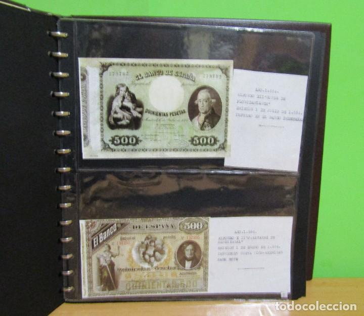 Reproducciones billetes y monedas: ALBUM CON 120 BILLETES EDICION FACSIMIL BILLETES DE 1871 A 1971 EXCELENTE PRESENTACION VER IMAGENES - Foto 11 - 231751065