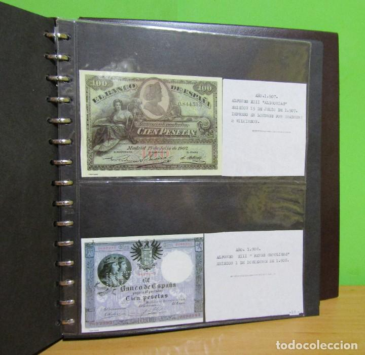 Reproducciones billetes y monedas: ALBUM CON 120 BILLETES EDICION FACSIMIL BILLETES DE 1871 A 1971 EXCELENTE PRESENTACION VER IMAGENES - Foto 18 - 231751065