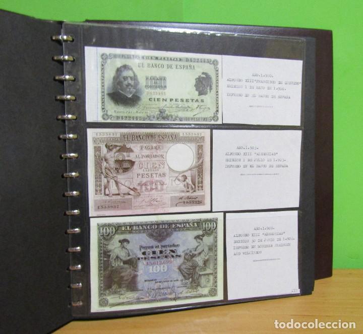 Reproducciones billetes y monedas: ALBUM CON 120 BILLETES EDICION FACSIMIL BILLETES DE 1871 A 1971 EXCELENTE PRESENTACION VER IMAGENES - Foto 19 - 231751065