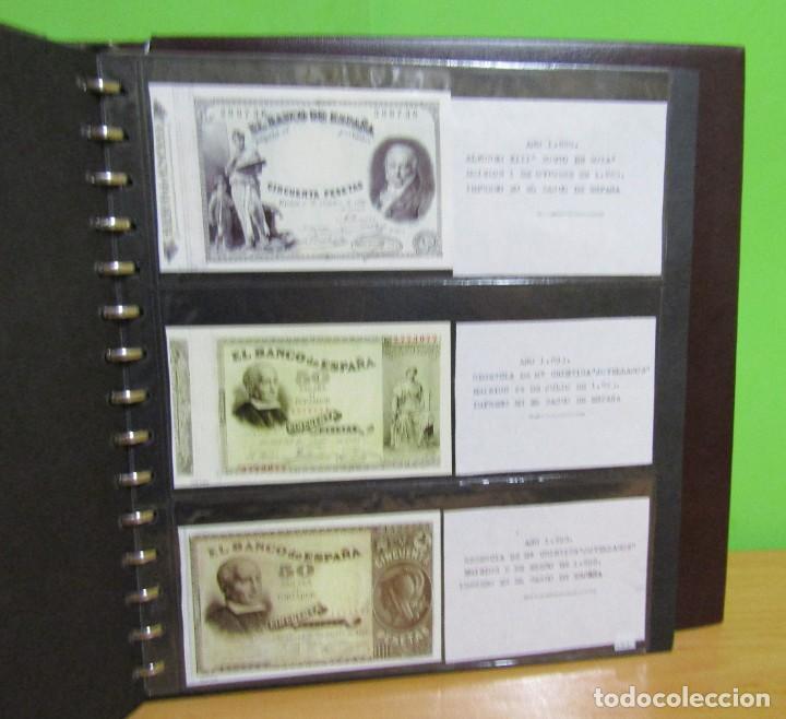 Reproducciones billetes y monedas: ALBUM CON 120 BILLETES EDICION FACSIMIL BILLETES DE 1871 A 1971 EXCELENTE PRESENTACION VER IMAGENES - Foto 24 - 231751065