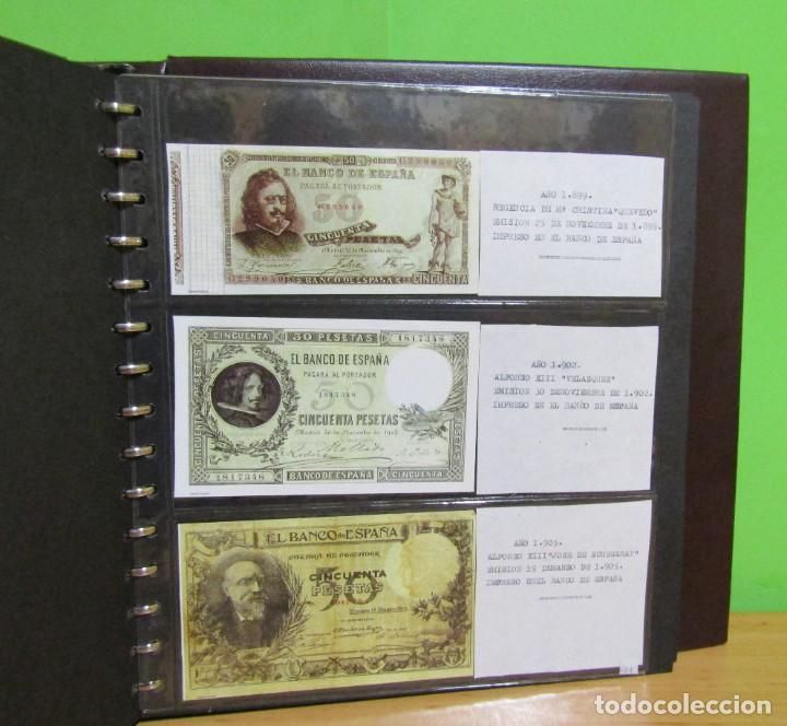 Reproducciones billetes y monedas: ALBUM CON 120 BILLETES EDICION FACSIMIL BILLETES DE 1871 A 1971 EXCELENTE PRESENTACION VER IMAGENES - Foto 25 - 231751065