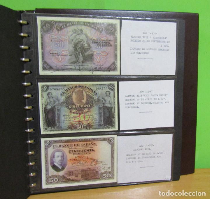 Reproducciones billetes y monedas: ALBUM CON 120 BILLETES EDICION FACSIMIL BILLETES DE 1871 A 1971 EXCELENTE PRESENTACION VER IMAGENES - Foto 26 - 231751065