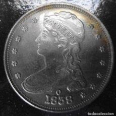Reproducciones billetes y monedas: MONEDA DE 1858. Lote 232172250
