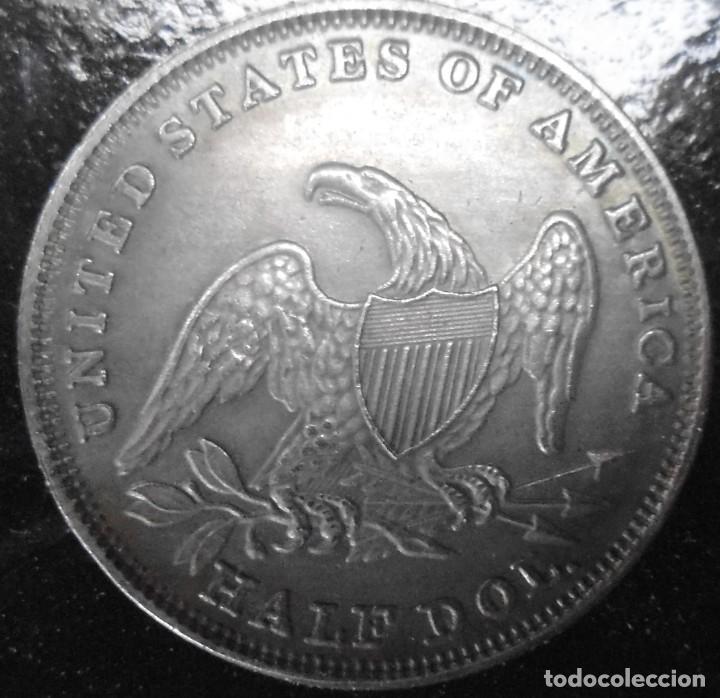 Reproducciones billetes y monedas: MONEDA DE 1858 - Foto 2 - 232172250