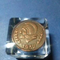 Reproducciones billetes y monedas: MONEDA REPUBLICA ESPAÑOLA IBI 25 CENTIMOS 1937. Lote 232918945