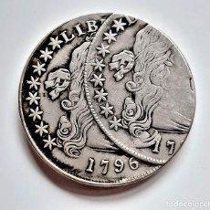 Reproducciones billetes y monedas: USA LIBERTY DOLLAR 1796 ERROR DE MONEDA - 38.MM DIAMETRO - 27.52.GRAMOS. Lote 234126680