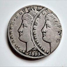 Reproducciones billetes y monedas: USA MORGAN ONE DOLLAR 1893 ERROR DE MONEDA - 37.MM DIAMETRO - 26.45.GRAMOS. Lote 234127095
