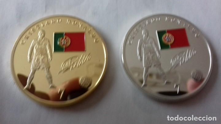 Reproducciones billetes y monedas: Lote de medallones del REAL MADRID - Foto 2 - 235347815