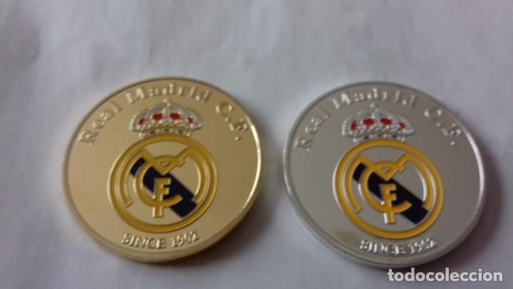 Reproducciones billetes y monedas: Lote de medallones del REAL MADRID - Foto 3 - 235347815