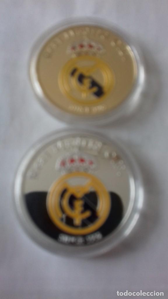 Reproducciones billetes y monedas: Lote de medallones del REAL MADRID - Foto 5 - 235347815