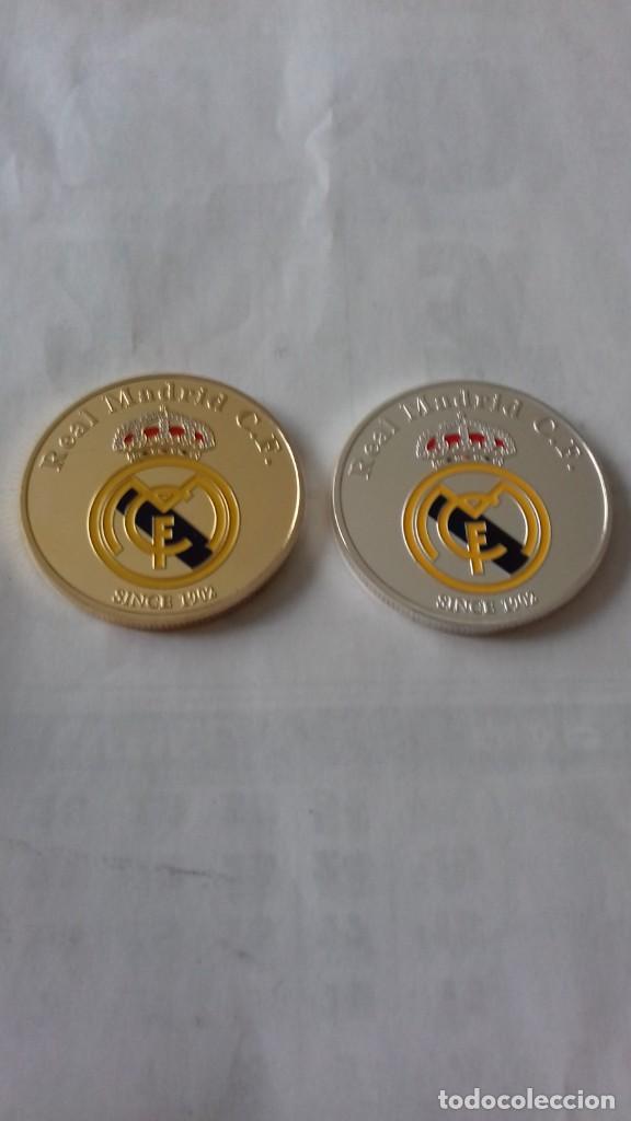 Reproducciones billetes y monedas: Lote de medallones del REAL MADRID - Foto 8 - 235347815