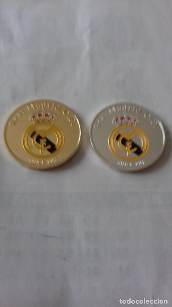Reproducciones billetes y monedas: Lote de medallones del REAL MADRID - Foto 9 - 235347815