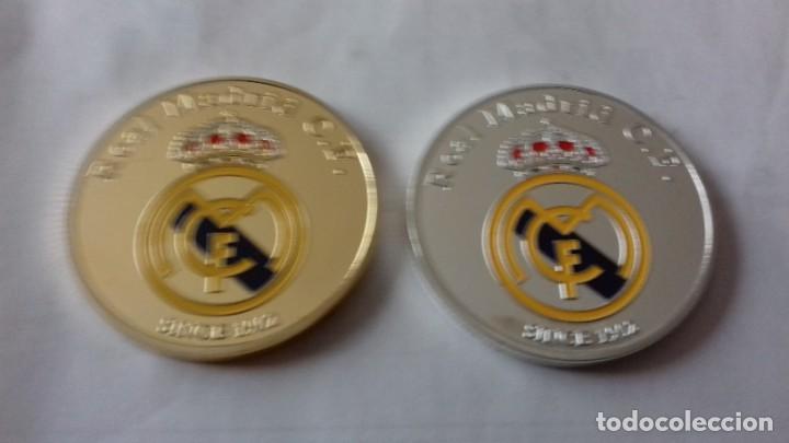 Reproducciones billetes y monedas: Lote de medallones del REAL MADRID - Foto 10 - 235347815