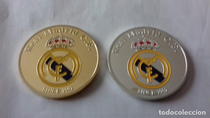Reproducciones billetes y monedas: Lote de medallones del REAL MADRID - Foto 11 - 235347815