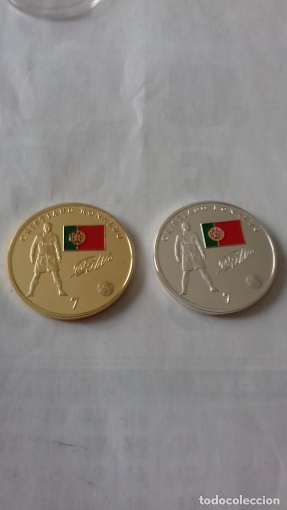 Reproducciones billetes y monedas: Lote de medallones del REAL MADRID - Foto 13 - 235347815