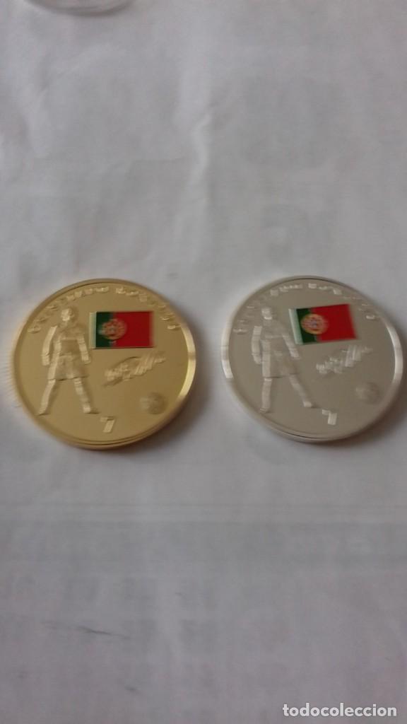 Reproducciones billetes y monedas: Lote de medallones del REAL MADRID - Foto 14 - 235347815