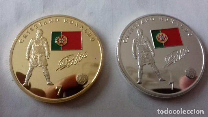 Reproducciones billetes y monedas: Lote de medallones del REAL MADRID - Foto 16 - 235347815