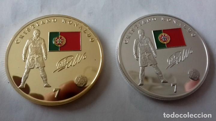 Reproducciones billetes y monedas: Lote de medallones del REAL MADRID - Foto 17 - 235347815