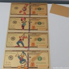 Reproductions billets et monnaies: 4 BILLETES DE PERSONAJES DE DISNEY Y BILLETE DE REGALO!. Lote 253655300