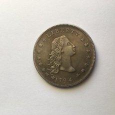 Reproducciones billetes y monedas: MONEDA RÉPLICA DOLLAR FLOWING HAIR USA 1794 DOLAR. Lote 236603955