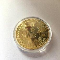 Reproducciones billetes y monedas: BONITA MONEDA REPRESENTATIVA DE BITCOIN. Lote 238236300